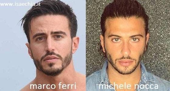 Somiglianza tra Marco Ferri e Michele Nocca