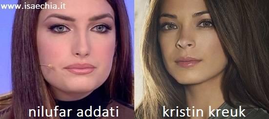 Somiglianza tra Nilufar Addati e Kristin Kreuk
