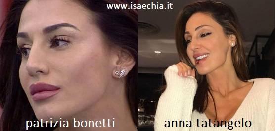 Somiglianza tra Patrizia Bonetti e Anna Tatangelo