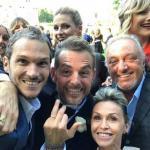 Daniele Bossari, Alvin, Michelle Hunziker, Natasha Stefanenko e Roberto Cenci
