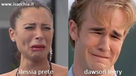 Somiglianza tra Alessia Prete e Dawson Leery di 'Dawson's Creek'