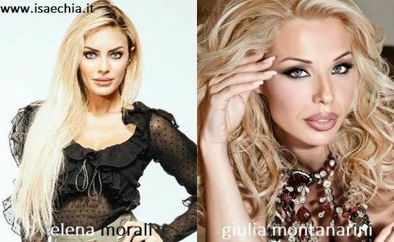 Somiglianza tra Elena Morali e Giulia Montanarini