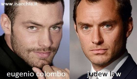 Somiglianza tra Eugenio Colombo e Jude Law