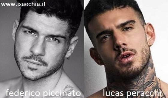 Somiglianza tra Federico Piccinato e Lucas Peracchi