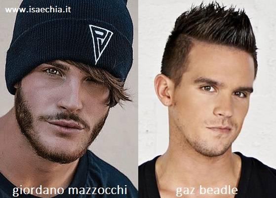 Somiglianza tra Giordano Mazzocchi e Gaz Beadle di 'Geordie Shore'