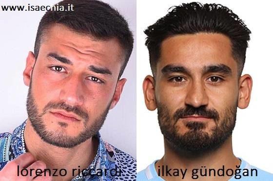 Somiglianza tra Lorenzo Riccardi e İlkay Gündoğan