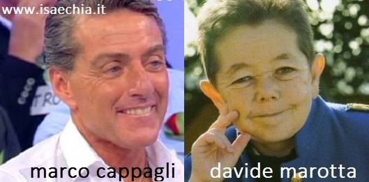 Somiglianza tra Marco Cappagli e Davide Marotta