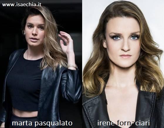 Somiglianza tra Marta Pasqualato e Irene Fornaciari