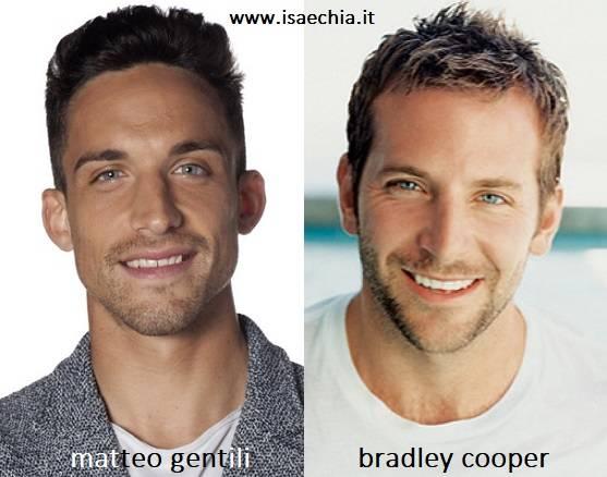 Somiglianza tra Matteo Gentili e Bradley Cooper