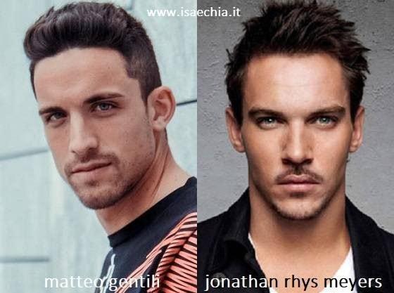 Somiglianza tra Matteo Gentili e Jonathan Rhys Meyers