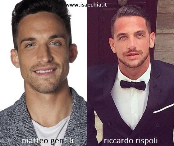 Somiglianza tra Matteo Gentili e Riccardo Rispoli