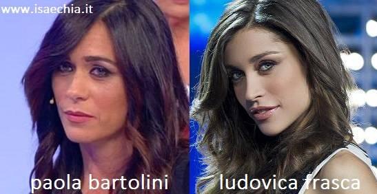 Somiglianza tra Paola Bertolini e Ludovica Frasca