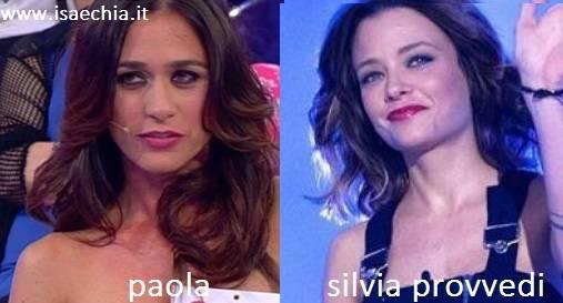 Somiglianza tra Paola e Silvia Provvedi