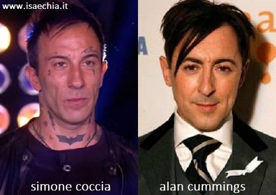 Somiglianza tra Simone Coccia e Alan Cummings