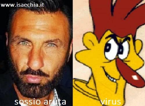 Somiglianza tra Sossio Aruta e Virus