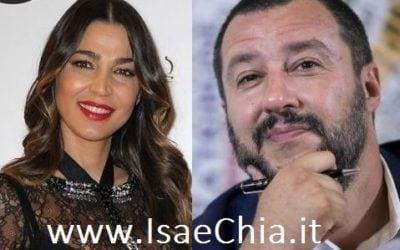 Cecilia Capriotti e Matteo Salvini