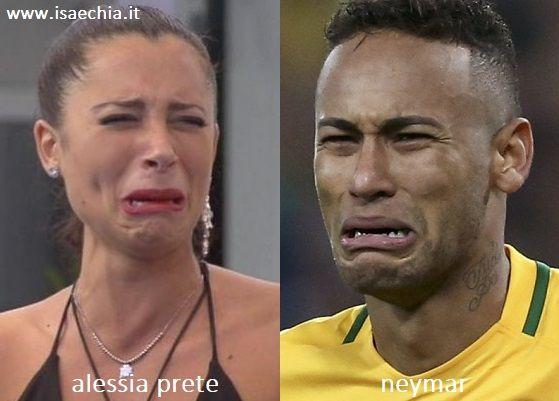 Somiglianza tra Alessia Prete e Neymar