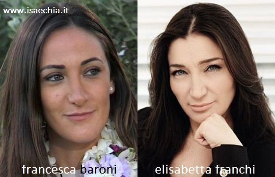 Somiglianza tra Francesca Baroni ed Elisabetta Franchi