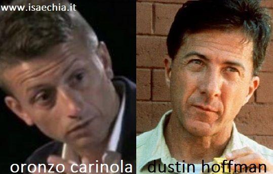 Somiglianza Oronzo Carinola e Dustin Hoffman