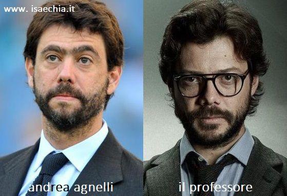 Somiglianza tra Andrea Agnelli e il Professore de 'La Casa di Carta'