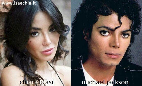 Somiglianza tra Chiara Biasi e Michael Jackson