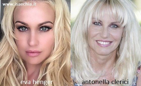 Somiglianza tra Eva Henger e Antonella Clerici
