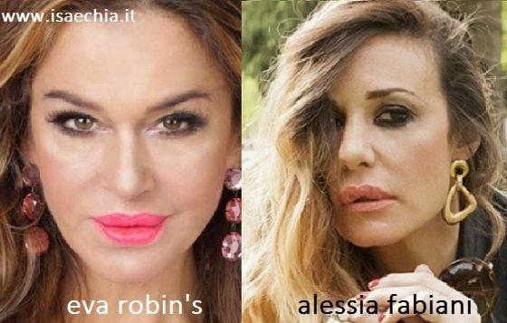 Somiglianza tra Eva Robin's e Alessia Fabiani