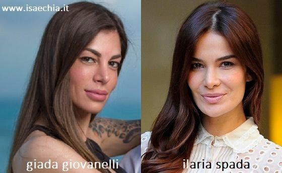 Somiglianza tra Giada Giovannelli e Ilaria Spada