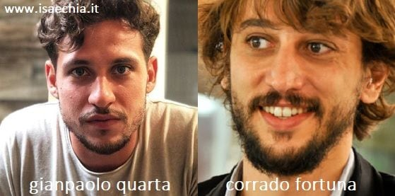 Somiglianza tra Gianpaolo Quarta e Corrado Fortuna