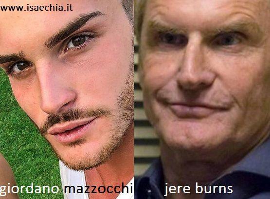 Somiglianza tra Giordano Mazzocchi e Jere Burns