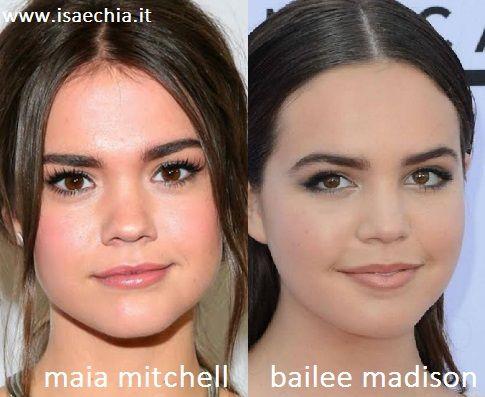 Somiglianza tra Maia Mitchell e Bailee Madison