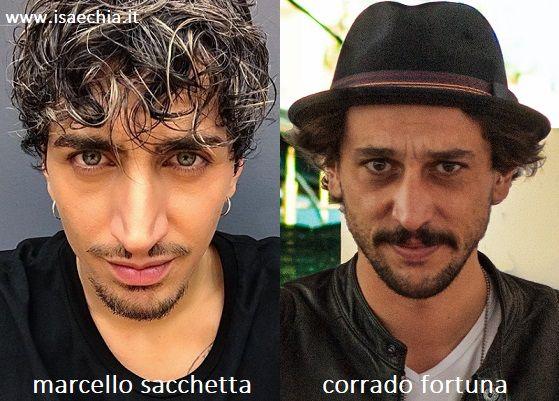 Somiglianza tra Marcello Sacchetta e Corrado Fortuna
