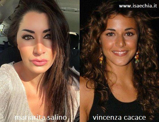 Somiglianza tra Mariarita Salino e Vincenza Cacace