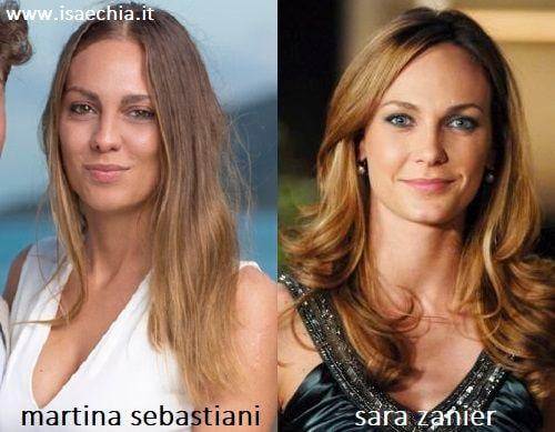 Somiglianza tra Martina Sebastiani e Sara Zanier