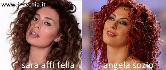 Somiglianza tra Sara Affi Fella e Angela Sozio