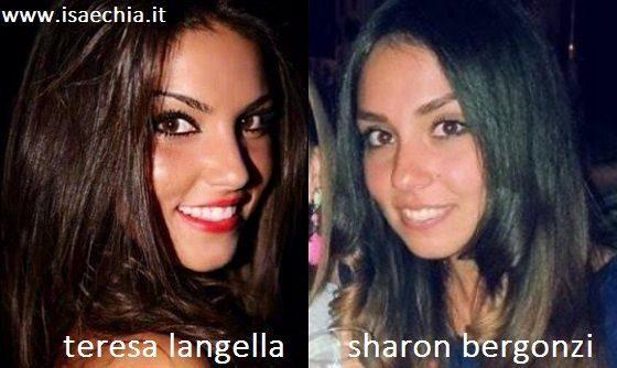 Somiglianza tra Teresa Langella e Sharon Bergonzi