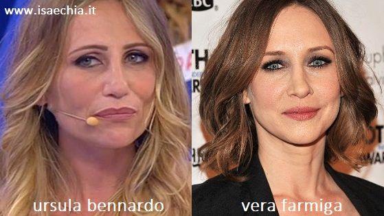 Somiglianza tra Ursula Bennardo e Vera Farmiga