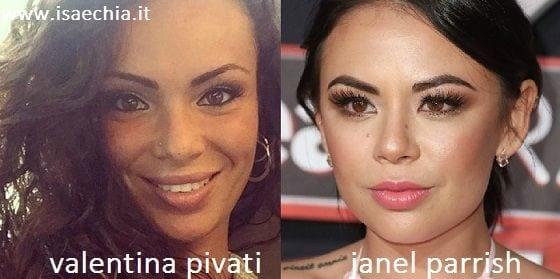 Somiglianza tra Valentina Pivati e Janel Parrish