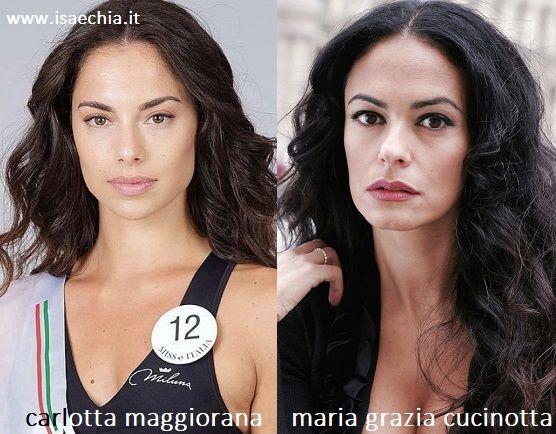 Somiglianza tra Carlotta Maggiorana e Maria Grazia Cucinotta