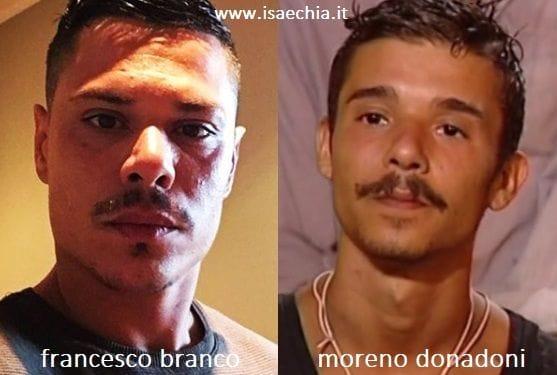 Somiglianza tra Francesco Branco e Moreno Donadoni