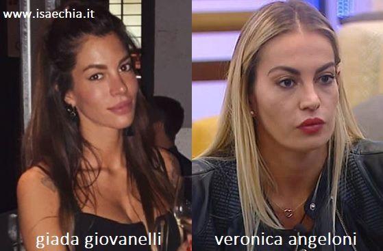 Somiglianza tra Giada Giovanelli e Veronica Angeloni