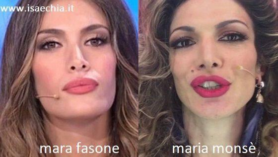 Somiglianza tra Mara Fasone e Maria Monsè
