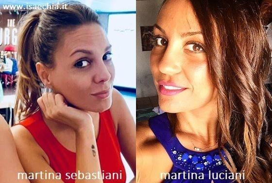 Somiglianza tra Martina Sebastiani e Martina Luciani
