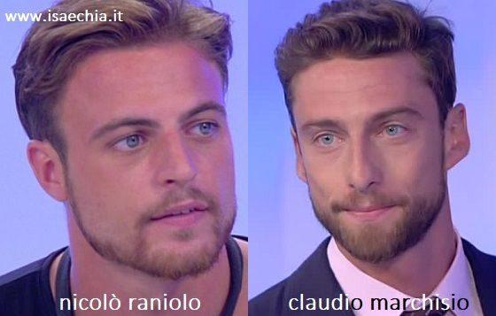 Somiglianza tra Nicolò Raniolo e Claudio Marchisio