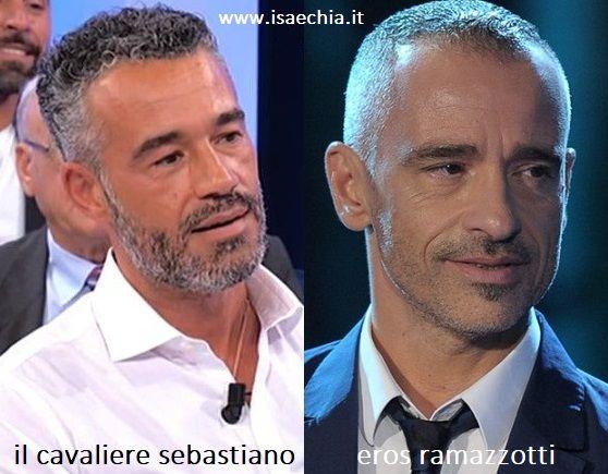 Somiglianza tra Sebastiano, cavaliere del Trono over di 'Uomini e Donne', e Eros Ramazzotti