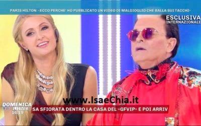 Paris Hilton, Cristiano Malgioglio