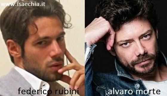 Somiglianza Federico Rubini e Alvaro Morte