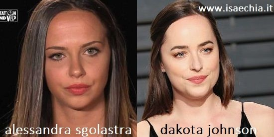 Somiglianza tra Alessandra Sgolastra e Dakota Johnson