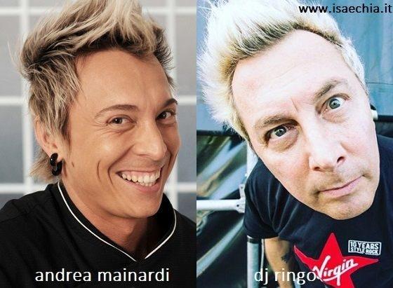 Somiglianza tra Andrea Mainardi e Dj Ringo