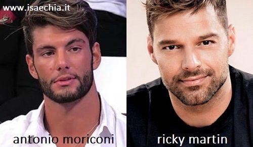 Somiglianza tra Antonio Moriconi e Ricky Martin
